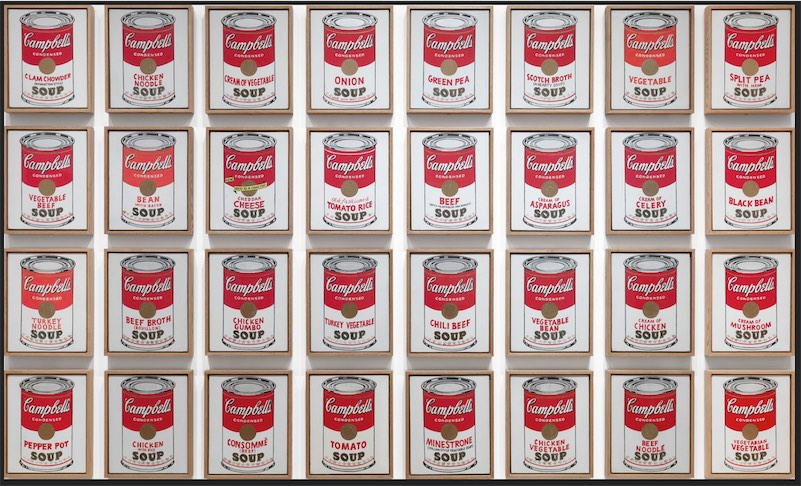 Campbell's Soup Cans Andy Warhol Arte Pop