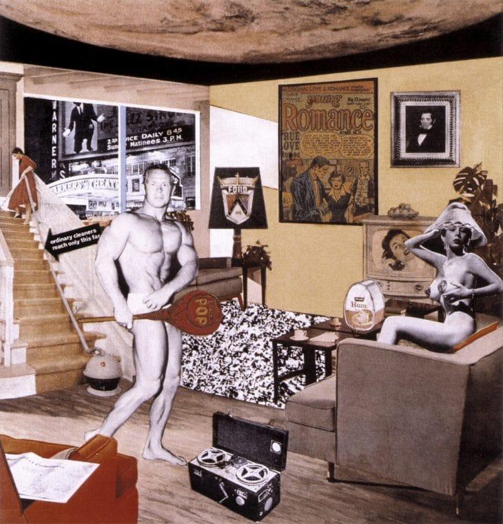 Richard Hamilton ¿Pero qué hace a los hogares de hoy tan diferentes, tan atractivos? arte pop