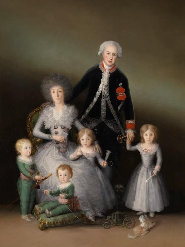 Los duques de Osuna y sus hijos cuadros de Goya