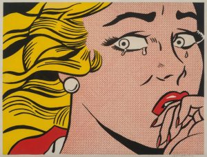 Roy Lichtenstein Crying Girl Chica llorando Arte Pop