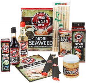 set de algas y salsas Itasan cómo hacer sushi