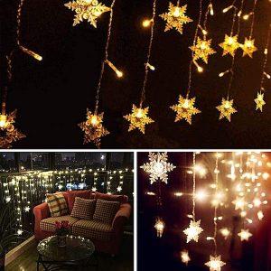 navidad que es adornos de navidad cortina de luces navideñas