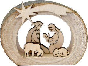 navidad que es belén de madera