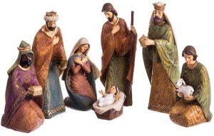 navidad que es belén nacimiento figuritas de resina