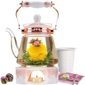 Tetera para té floral té de flores té verde propiedades