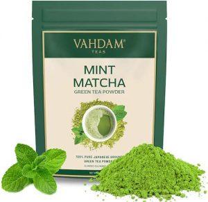 té verde matcha con menta en polvo orgánico té verde propiedades